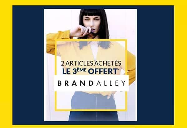 2 Articles En Soldes Achetés Sur Brandalley = Le Troisième Offert