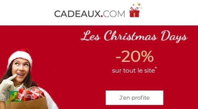 20% de remise sur tout le site Cadeaux