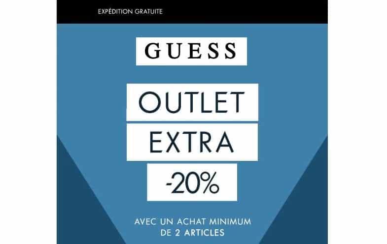 20% remise supplémentaire sur Outlet Guess