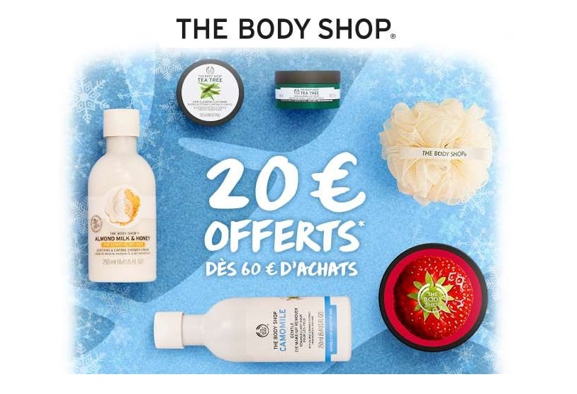 20€ de remise sur The Body Shop