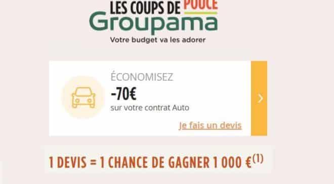 70€ offert par contrat d'assurance auto Groupama