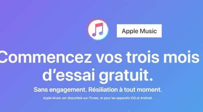 Apple Music 3 mois gratuit
