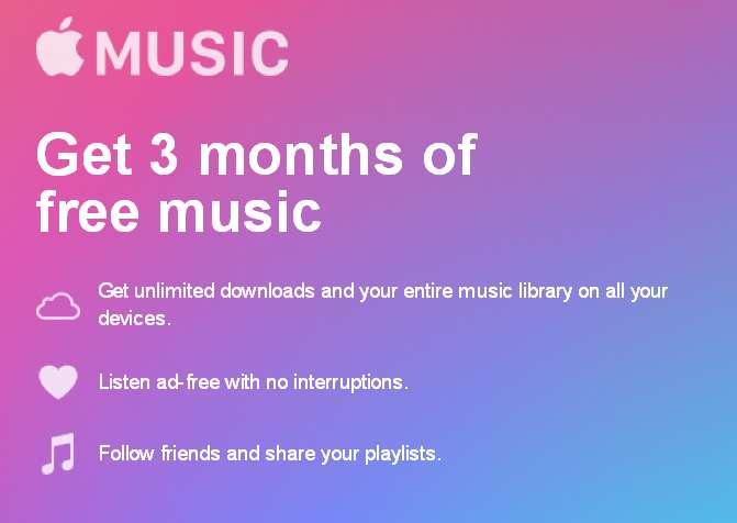 abonnement 3 mois Apple Music gratuit