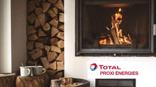 Bon d'achat Total Proxi Energies bois de chauffage ou pellets livrés à domicile