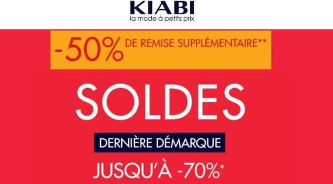 Dernière démarque Kiabi 50% supplémentaire sur prix soldés