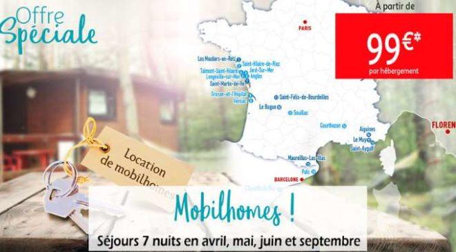 Flash Auchan Voyages : dès 99€ séjour 8 jours en mobil-homes
