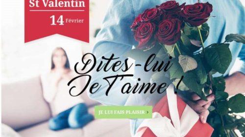 Livraison de fleurs pour la Saint Valentin remise sur Florajet