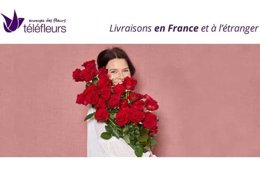Livraison de fleurs pour la St Valentin moins chère remise sur Téléfleurs