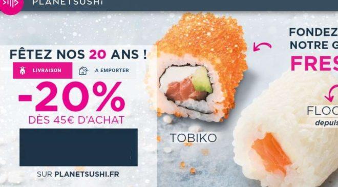 Remise Planet Sushi