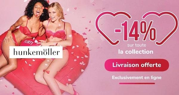 Saint Valentin Hunkemöller 14% Sur Tout + Livraison Gratuite Dès 20€ D'achats