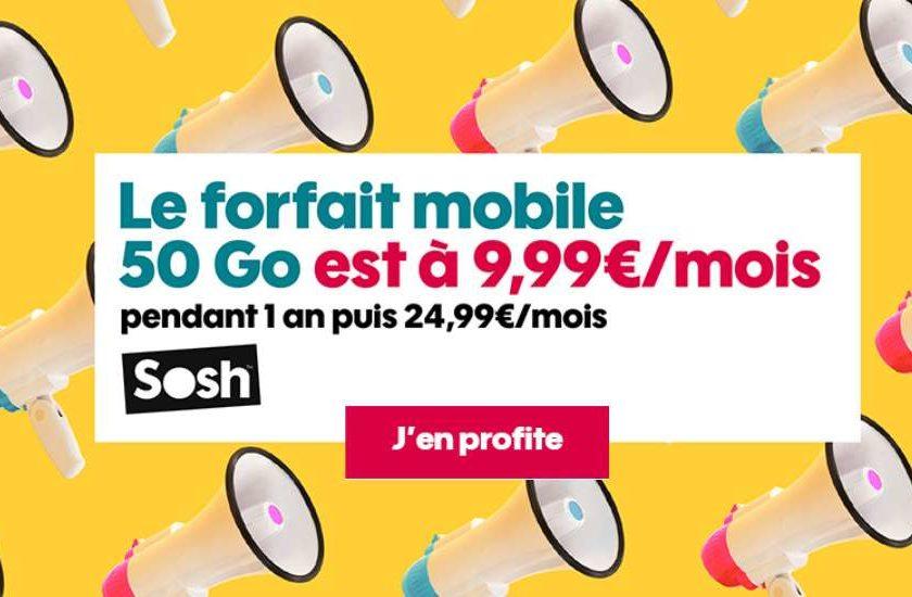 Vente Privée Forfait SOSH 50Go