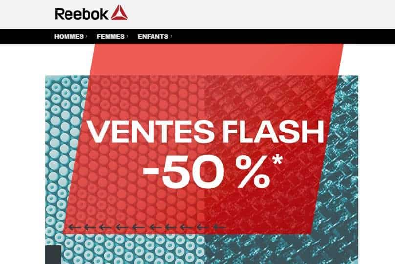 Vente flash Outlet Reebok