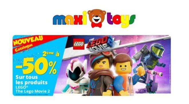 boite de LEGO Movie 2 achetée la seconde à moitié prix