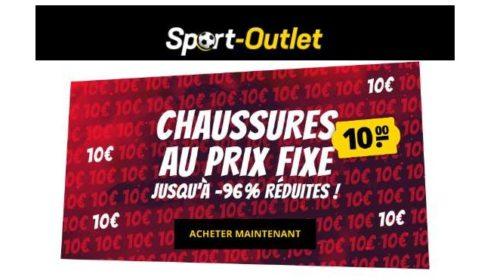 bradage de chaussures de sport de marque à 10€ prix unique