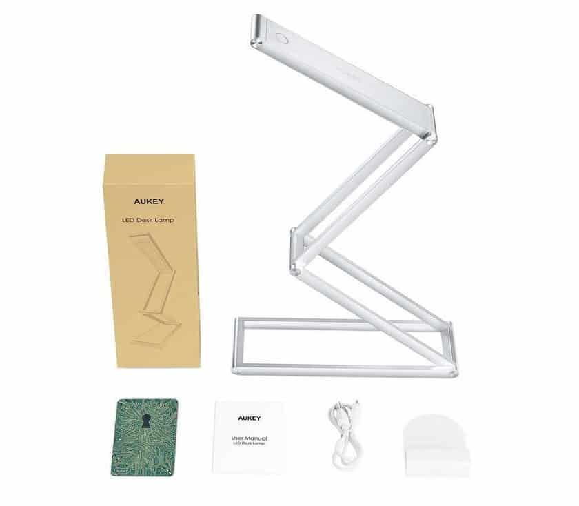 lampe de bureau aluminium pliable rechargeable Aukey LT-ST7