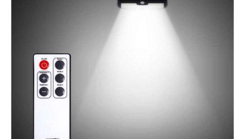 lampe solaire 38 LED avec télécommande et détecteur de mouvement AUKEY LT-W6