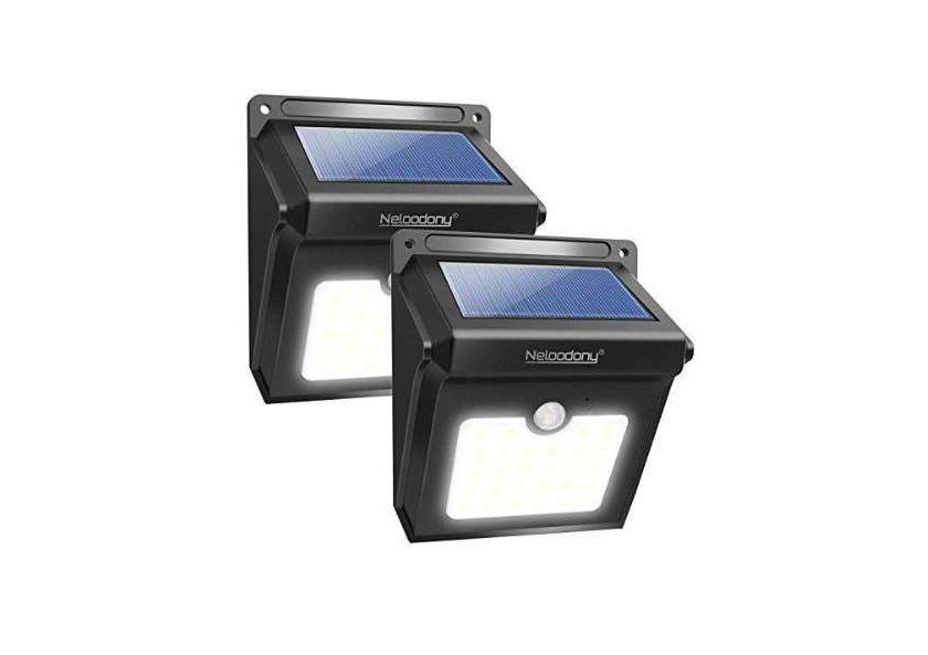 lot de 2 appliques solaires 28 LED avec détecteur de mouvement Neloodony