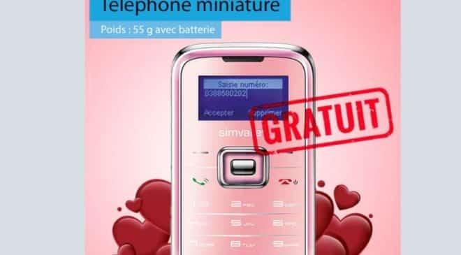 mini téléphone Pico Inox RX-180 rose débloqué sur Pearl