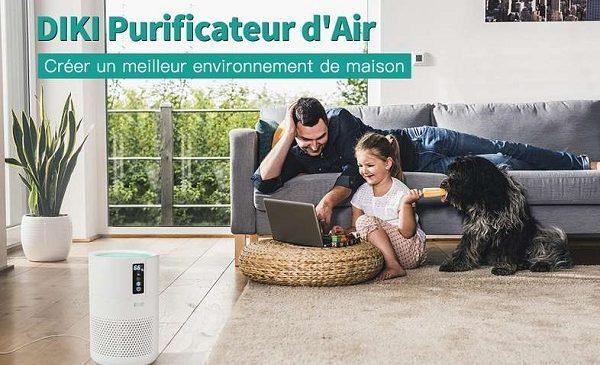 purificateur d'air silencieux avec filtre hepa anion