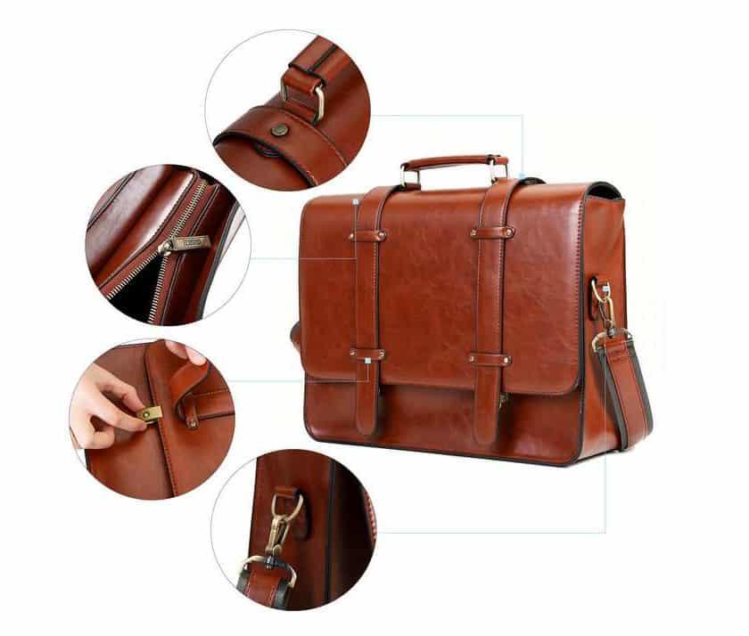 sac vintage cartable pour femme Ecosusi