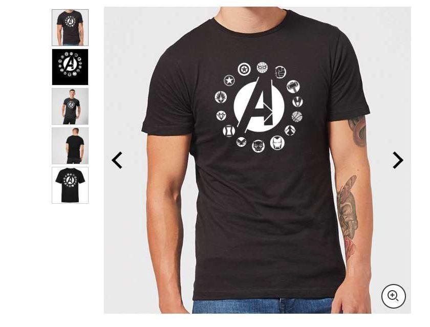t-shirt officiel Avengers homme, femme ou enfant