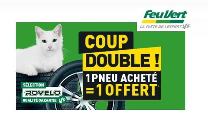 1 pneu Rovelo acheté = 1 pneu offert sur Feu Vert