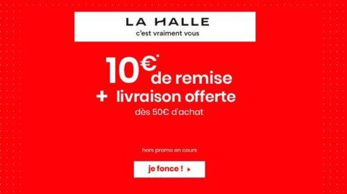 10€ de réduction sur le site de La Halle