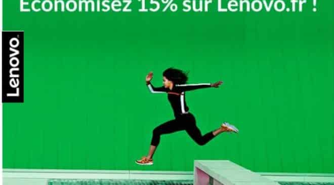 15% de remise sur le site Lenovo