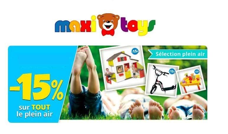 15% de remise sur les articles Plein air et jouets sportifs