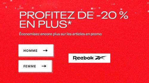 20% En Plus Sur L'outlet Reebok Jusqu'à La Fin Du Mois