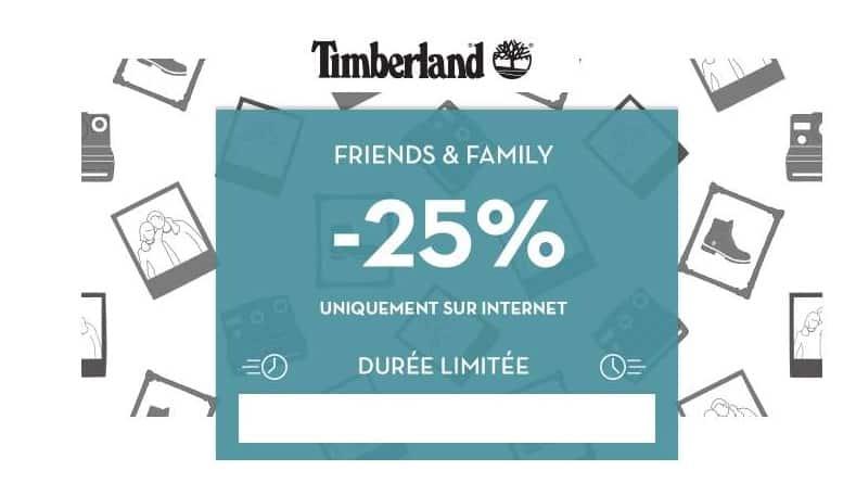 25% de réduction sur le site Timberland