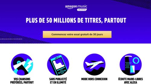 30 jours d'abonnement Amazon Music Unlimited gratuits