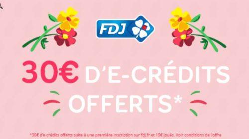 30€ offerts si vous vous inscrivez sur le site de la Française des Jeux