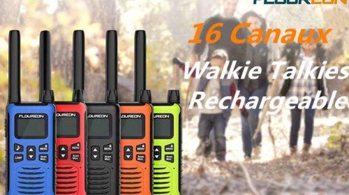 4 talkies-walkies 16 canaux Floureon FC200