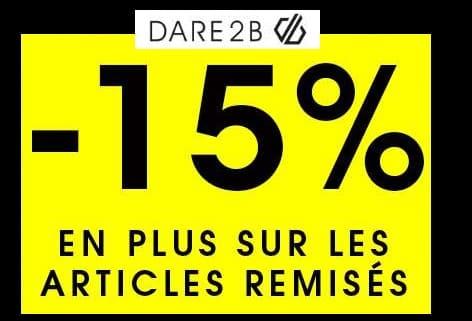 5% de remise sur les articles Dare 2B en promotions