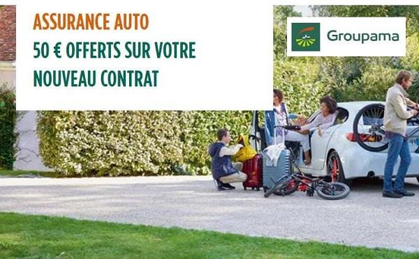 50€ Offert Par Contrat D'assurance Auto Groupama