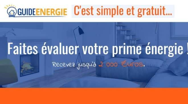 Avec Guide Energie évaluez votre prime énergie