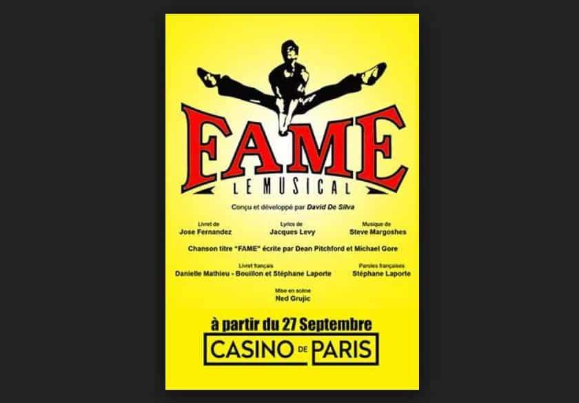 Billet comédie musicale Fame pas cher