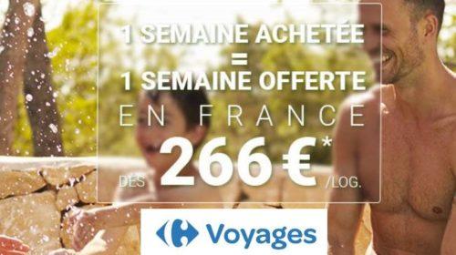 Carrefour voyages 1 semaine résidence ou camping achetée = 1 semaine offerte