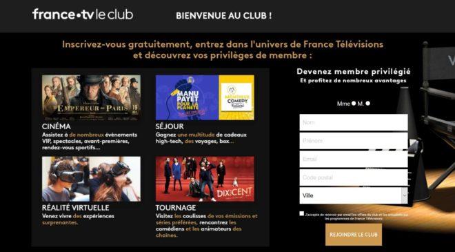 Inscrivez-vous gratuitement au club France Télévision