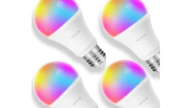 Lot de 4 ampoules connectées Wi-Fi Teckin