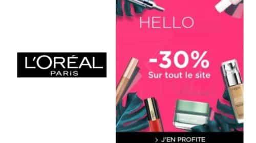 Remise de 30% sur tout le site L'Oréal Paris