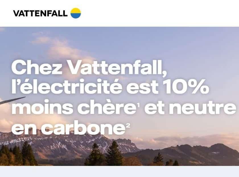 Vattenfall remise sur le tarif de l'électricité