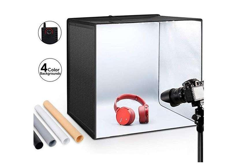 boite à photo ESDDI avec éclairage 120 LED