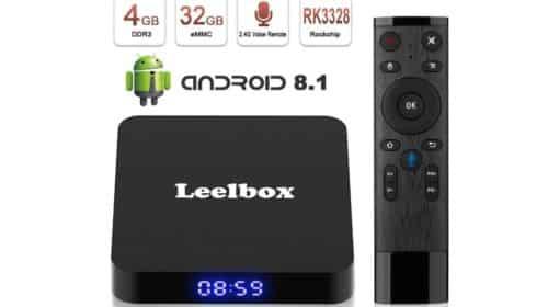 box TV android Leelbox Q4 Android 8.1 4 Go de RAM et 32 Go de mémoire