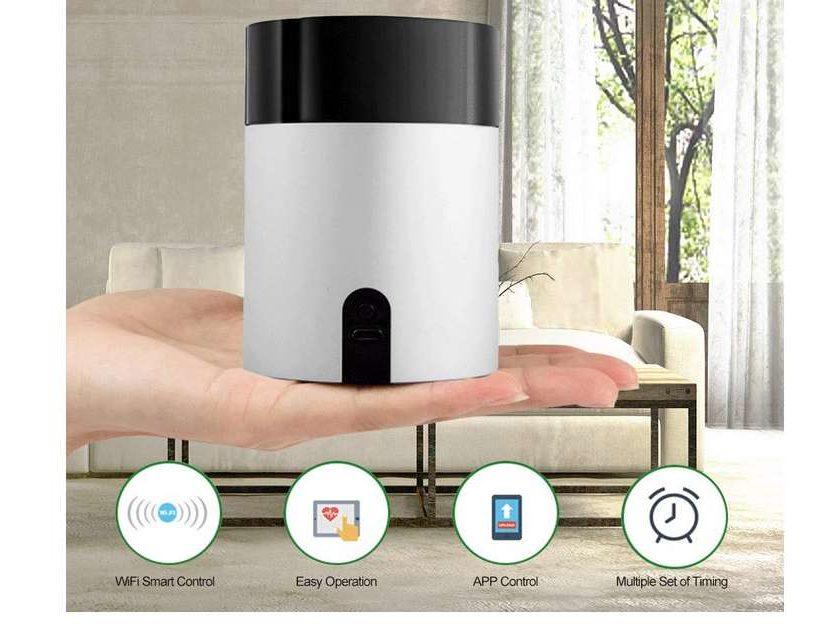 box télécommande wi-fi Docooler W30 qui centralise vos télécommandes pour les diriger via application ou Google Home et Amazon Alexa