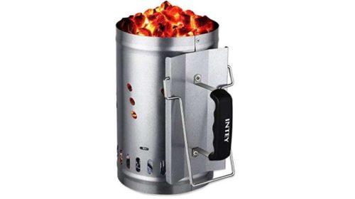cheminée d'allumage de barbecue acier galvanisé grande capacité Intey