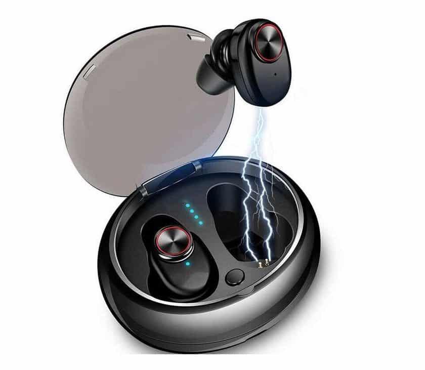 écouteurs sans fils Bluetooth 5.0 TWS avec boitier de charge