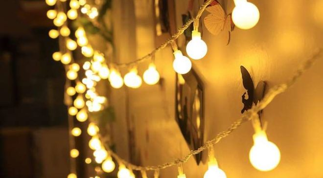 guirlande boules pour intérieur 100 ampoules LED