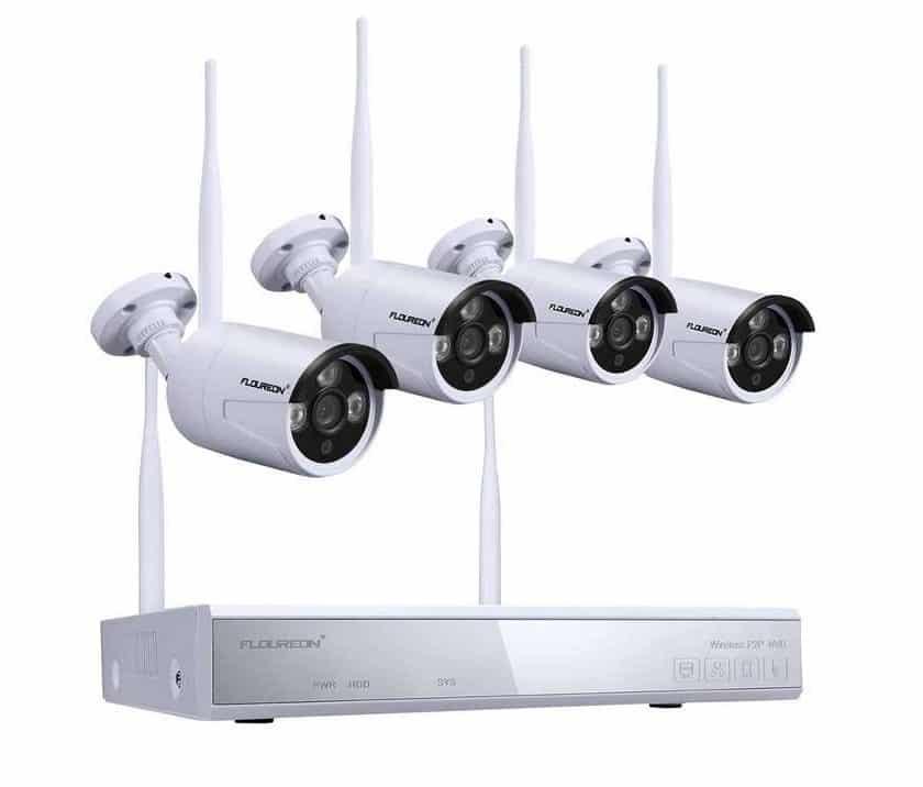 kit de surveillance Floureon sans fils avec 4 cameras extérieur-intérieur